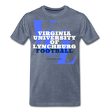 Virginia University of Lynchburg Football (VUL) Classic HBCU Rep U T-Shirt - heather blue