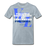 Virginia University of Lynchburg Football (VUL) Classic HBCU Rep U T-Shirt - heather ice blue
