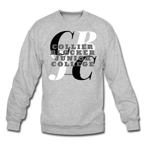 Collier Blocker Junior College Classic HBCU Rep U Crewneck Sweatshirt - heather gray