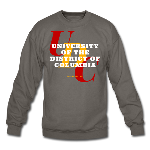 University of the District of Columbia (UDC) Classic HBCU Rep U Crewneck Sweatshirt - asphalt gray