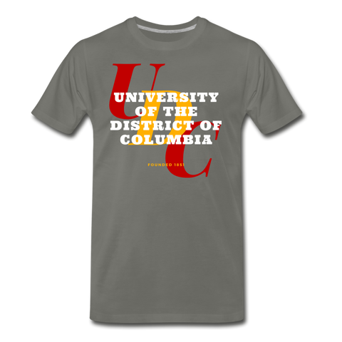 University of the District of Columbia (UDC) Classic HBCU Rep U T-Shirt - asphalt gray