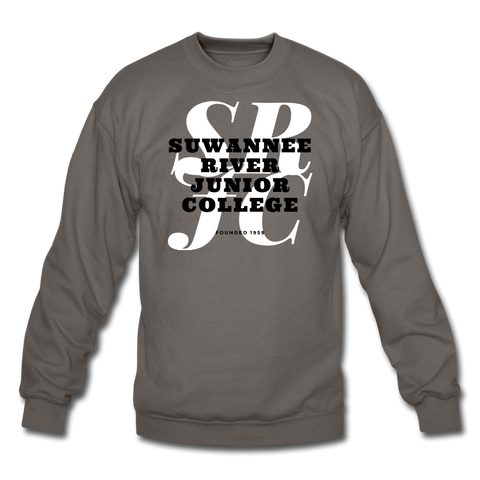Suwanee River Junior College Classic HBCU Rep U Crewneck Sweatshirt - asphalt gray