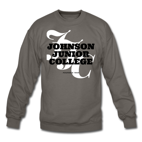 Johnson Junior College Classic HBCU Rep U Crewneck Sweatshirt - asphalt gray