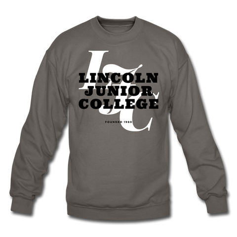 Lincoln Junior College Classic HBCU Rep U Crewneck Sweatshirt - asphalt gray