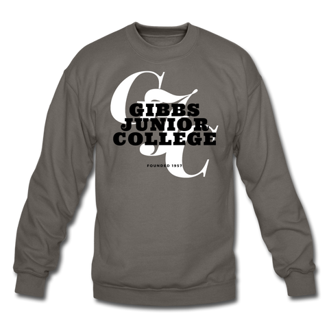 Gibbs Junior College Classic HBCU Rep U Crewneck Sweatshirt - asphalt gray