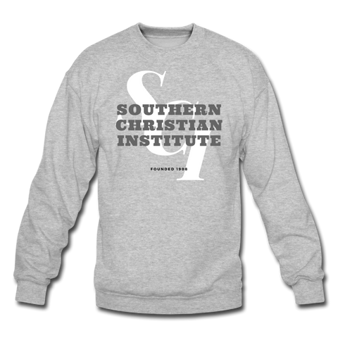 Southern Christian Institute Classic HBCU Rep U Crewneck Sweatshirt - heather gray