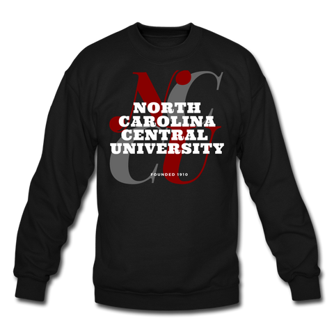 North Carolina Central University Classic HBCU Rep U Crewneck Sweatshirt - black