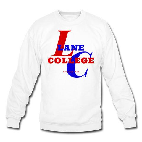 Lane College Classic HBCU Rep U Crewneck Sweatshirt - white
