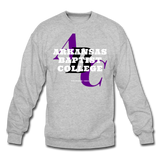 Arkansas Baptist College Classic HBCU Rep U Crewneck Sweatshirt - heather gray