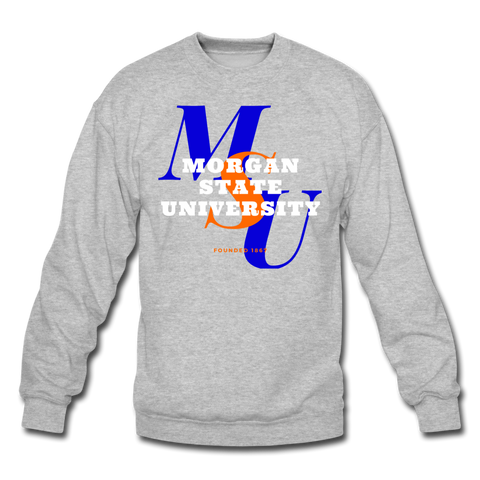 Morgan State University Classic HBCU Rep U Crewneck Sweatshirt - heather gray