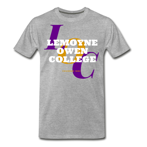 LeMoyne Owen College Classic HBCU Rep U T-Shirt - heather gray