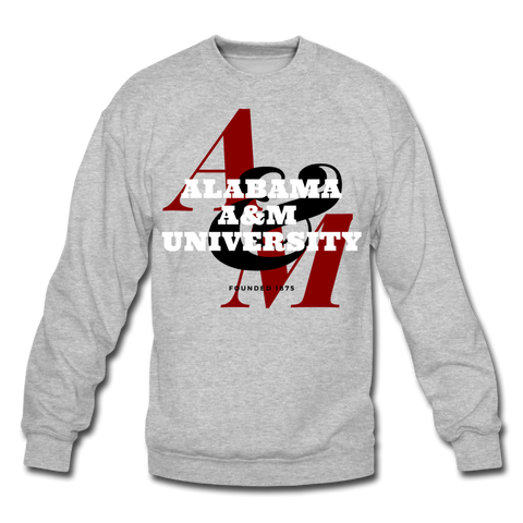 Alabama A&M University (AAMU) Classic HBCU Rep U Crewneck Sweatshirt - heather gray