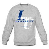 Lincoln University (Missouri) Classic HBCU Rep U Crewneck Sweatshirt - heather gray