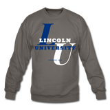 Lincoln University (Missouri) Classic HBCU Rep U Crewneck Sweatshirt - asphalt gray
