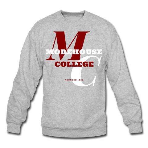 Morehouse College Classic HBCU Rep U Crewneck Sweatshirt - heather gray