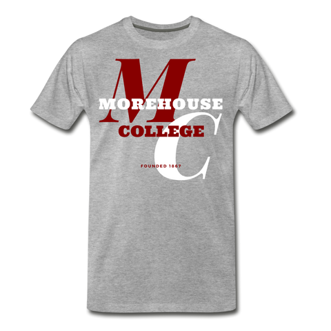 Morehouse College Classic HBCU Rep U T-Shirt - heather gray