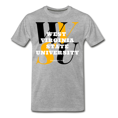 West Virginia State University (WVSU) Classic HBCU Rep U T-Shirt - heather gray