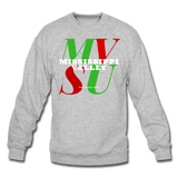 Mississippi Valley State University Classic HBCU Rep U Crewneck Sweatshirt - heather gray