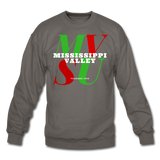 Mississippi Valley State University Classic HBCU Rep U Crewneck Sweatshirt - asphalt gray