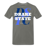 J F Drake State Community and Technical College Classic HBCU Rep U  T-Shirt - asphalt gray