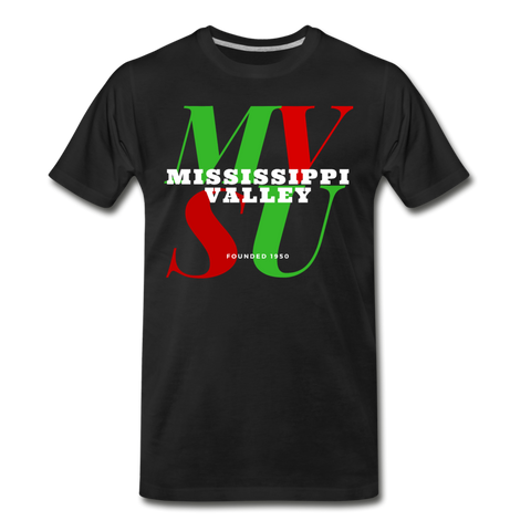 Mississippi Valley State University Classic HBCU Rep U T-Shirt - black