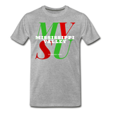 Mississippi Valley State University Classic HBCU Rep U T-Shirt - heather gray
