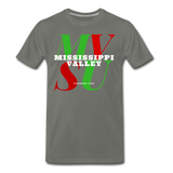Mississippi Valley State University Classic HBCU Rep U T-Shirt - asphalt gray