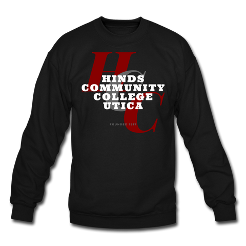 Hinds Community College-Utica Classic HBCU Rep U Crewneck Sweatshirt - black