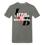 Lewis College of Business Classic HBCU Rep U T-Shirt - asphalt gray