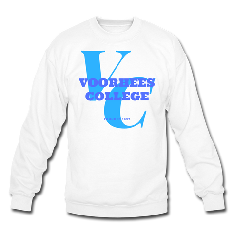 Voorhees College Classic HBCU Rep U Crewneck Sweatshirt - white
