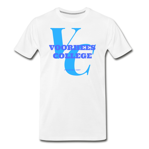 Voorhees College Classic HBCU Rep U T-Shirt - white
