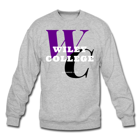 Wiley College Classic HBCU Rep U Crewneck Sweatshirt - heather gray