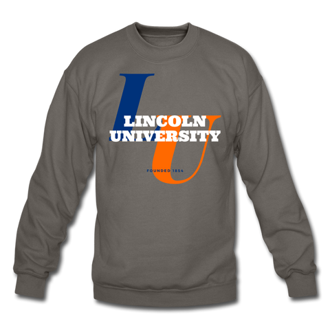 Lincoln University Classic HBCU Rep U Crewneck Sweatshirt - asphalt gray