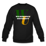 Wilberforce University Classic HBCU Rep U Crewneck Sweatshirt - black