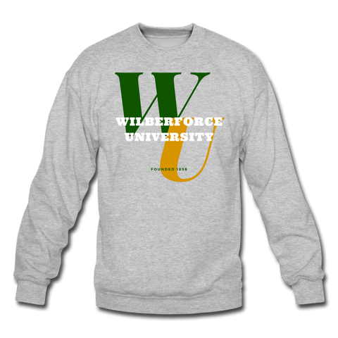 Wilberforce University Classic HBCU Rep U Crewneck Sweatshirt - heather gray