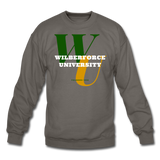 Wilberforce University Classic HBCU Rep U Crewneck Sweatshirt - asphalt gray