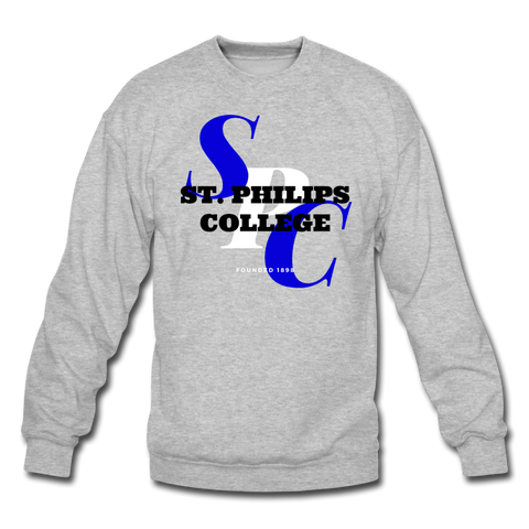 St. Philip's College Classic HBCU Rep U Crewneck Sweatshirt - heather gray