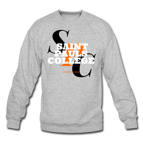 Saint Pauls College Classic HBCU Rep U Crewneck Sweatshirt - heather gray