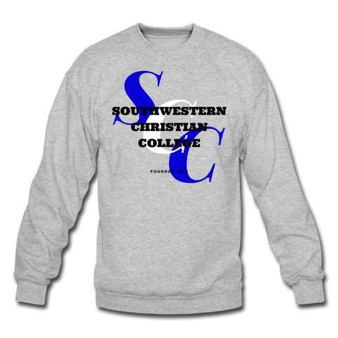 Southwestern Christian College Classic HBCU Rep U Crewneck Sweatshirt - heather gray