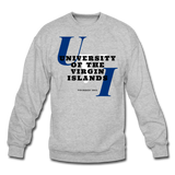 University of the Virgin Islands (UVI) Classic HBCU Rep U Crewneck Sweatshirt - heather gray
