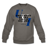 University of the Virgin Islands (UVI) Classic HBCU Rep U Crewneck Sweatshirt - asphalt gray