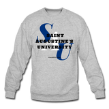 Saint Augustine's University Classic HBCU Rep U Crewneck Sweatshirt - heather gray
