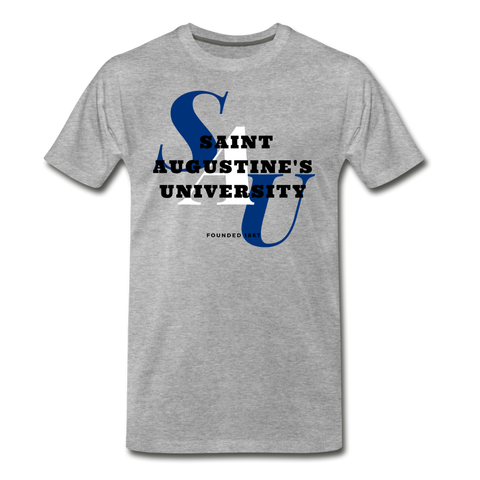 Saint Augustine's University Classic HBCU Rep U T-Shirt - heather gray