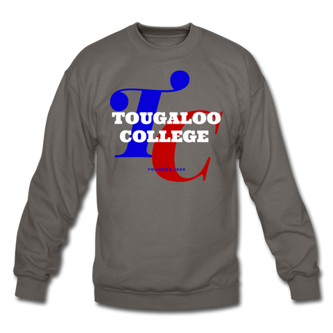 Tougaloo College Classic HBCU Rep U Crewneck Sweatshirt - asphalt gray