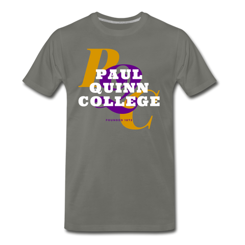 Paul Quinn College Classic HBCU Rep U T-Shirt - asphalt gray