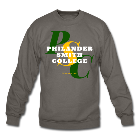 Philander Smith College Classic HBCU Rep U Crewneck Sweatshirt - asphalt gray