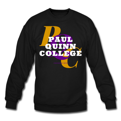 Paul Quinn College Classic HBCU Rep U Crewneck Sweatshirt - black
