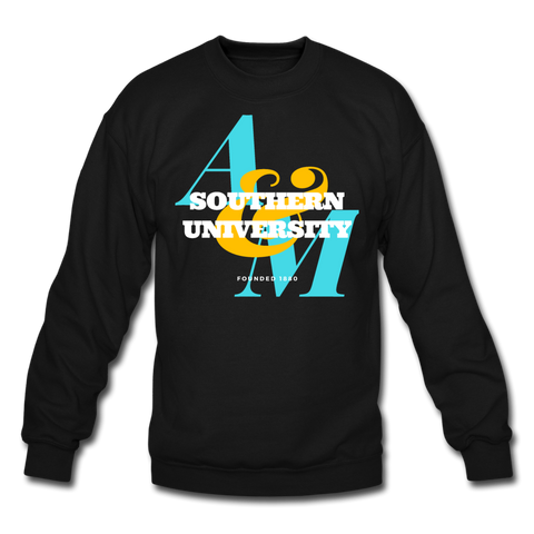 Southern University and A&M College Classic HBCU Rep U Crewneck Sweatshirt - black