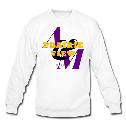Prairie View A&M University (PVAMU) Classic HBCU Rep U Crewneck Sweatshirt - white
