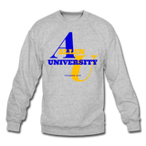 Allen University Classic HBCU Rep U Crewneck Sweatshirt - heather gray